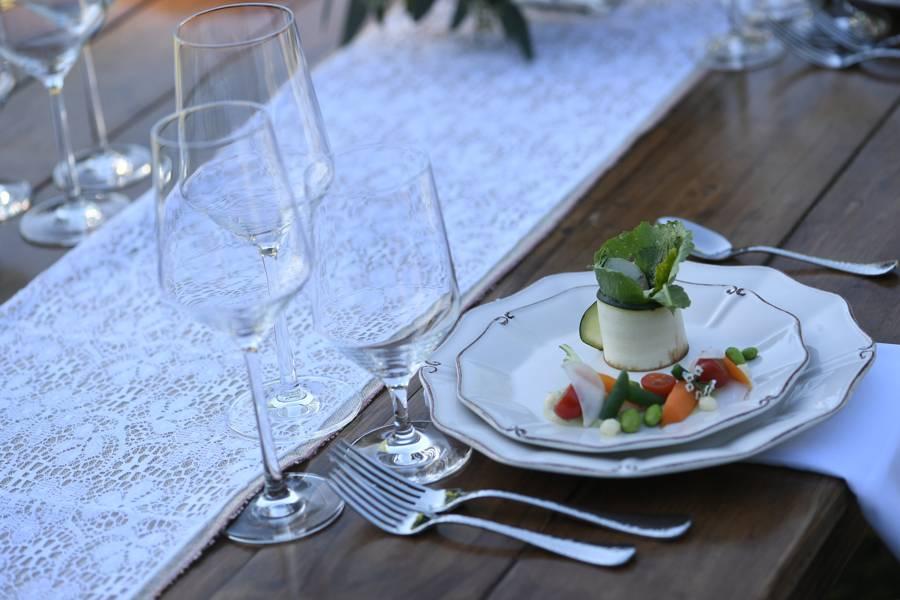Table Runner on Farm Table Rental