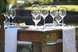 Farm Table with Table Runner