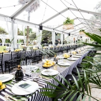 Banquet Table Rental with Chiavari Chairs