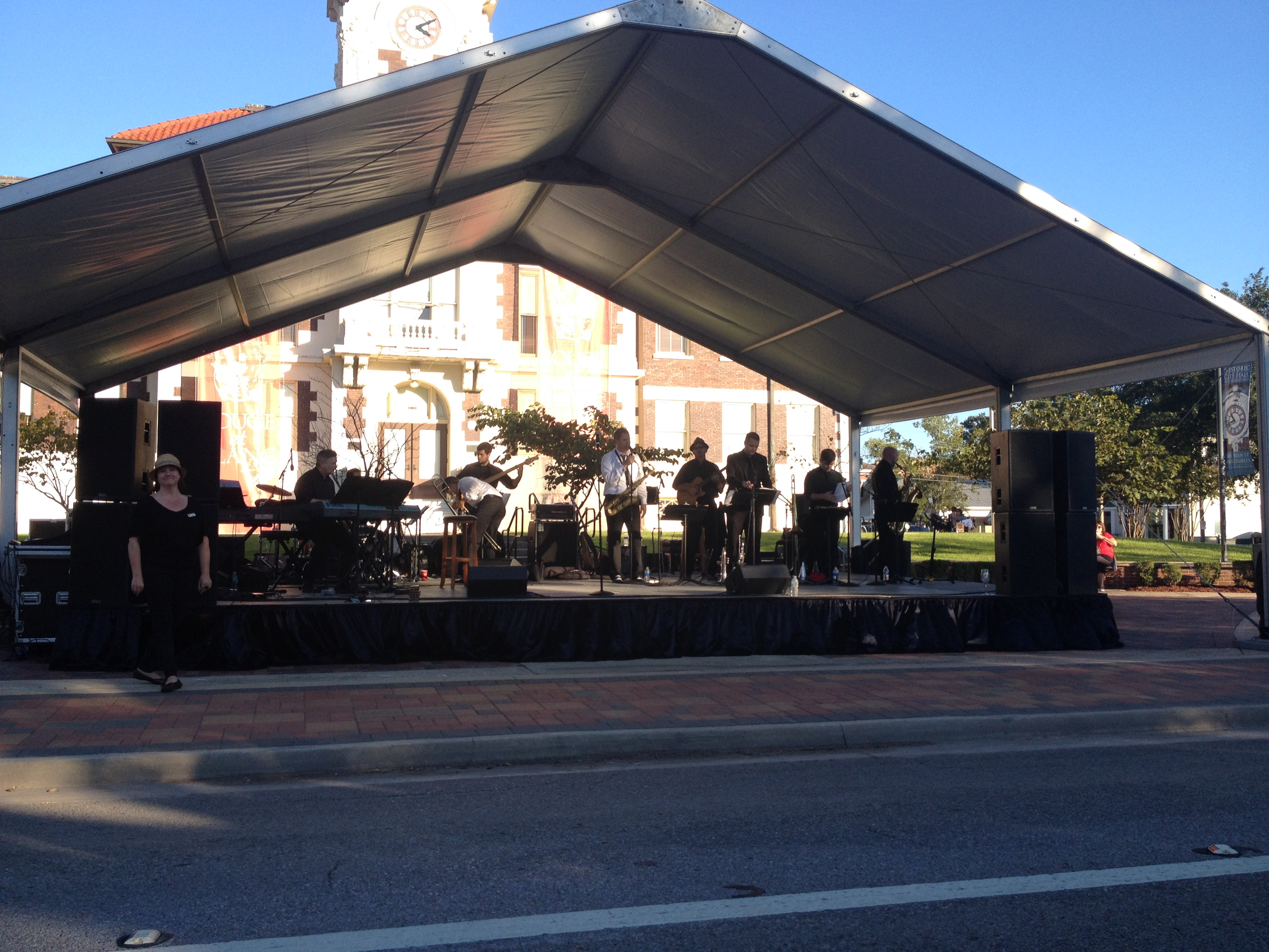 Stage With Tent Rental Cover