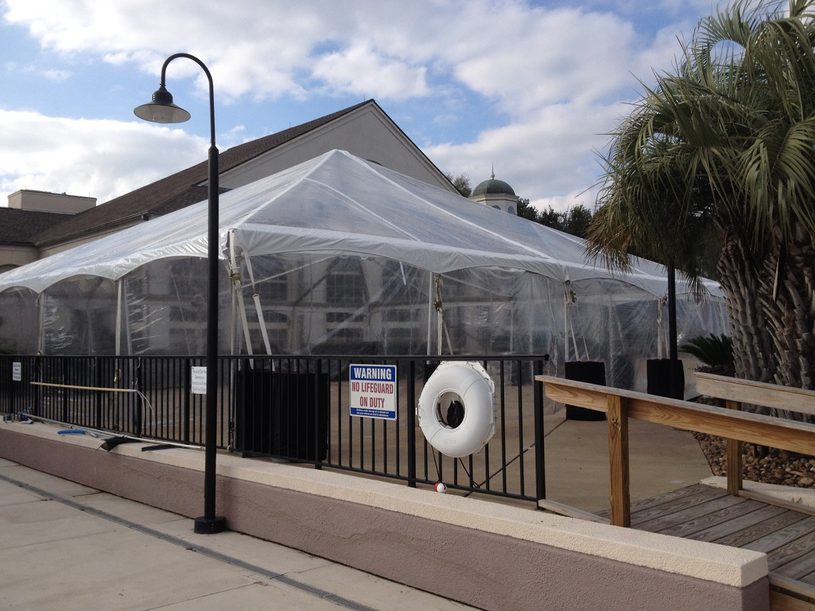 Clear Frame Tent Rental With Clear Walls