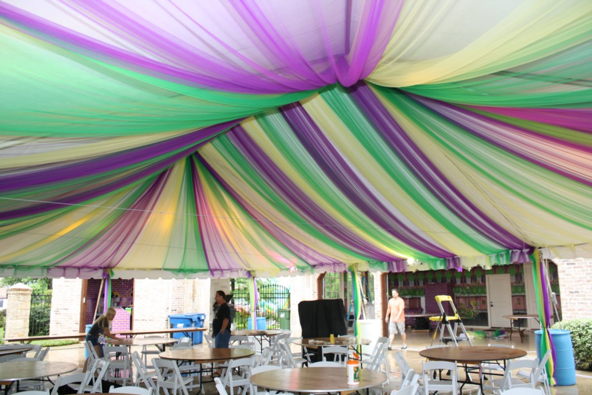 Colorful Decor Under Frame Tent Rental