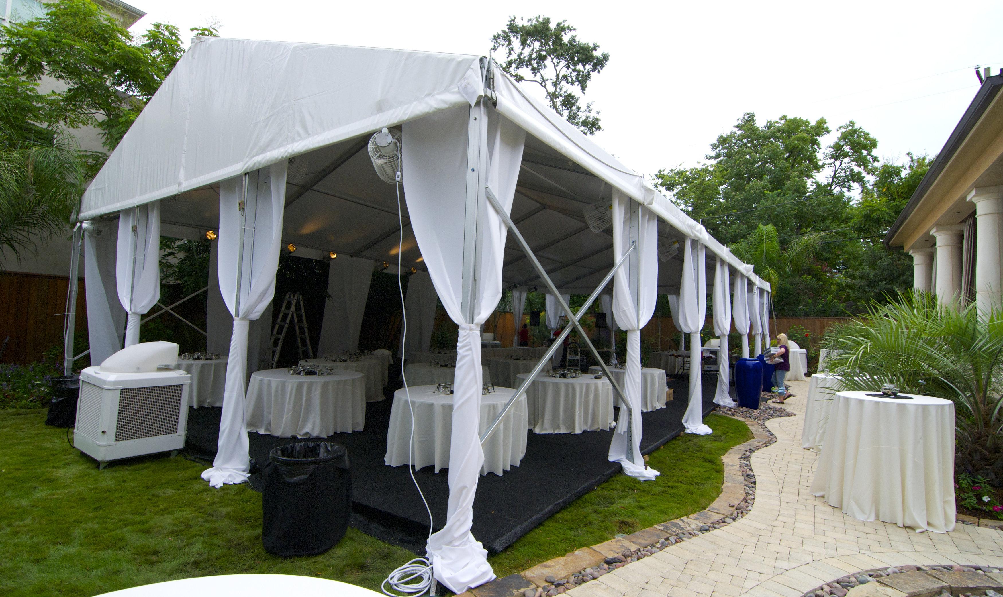 White Frame Tent Rental