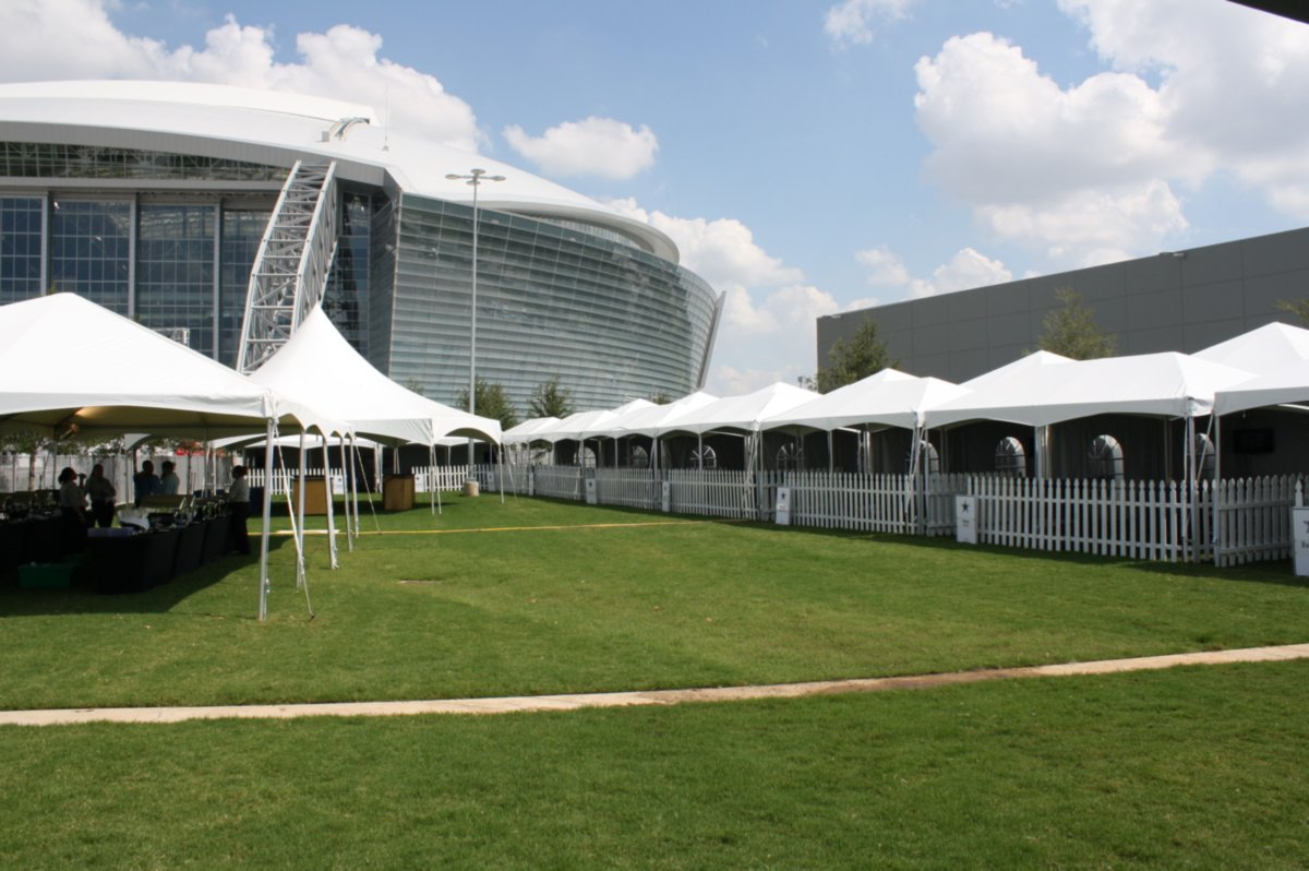 Event Tent Rentals Lined Up