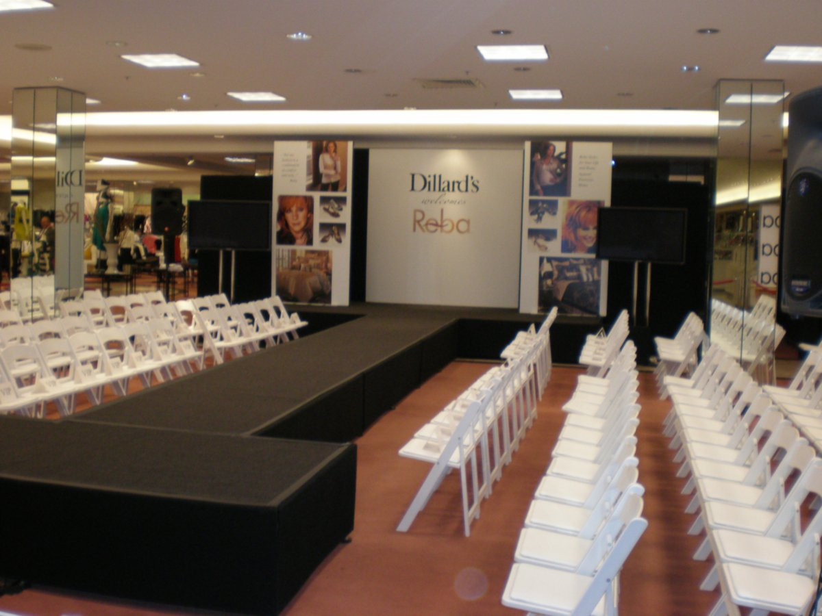 Rental Stage at Fashion Event
