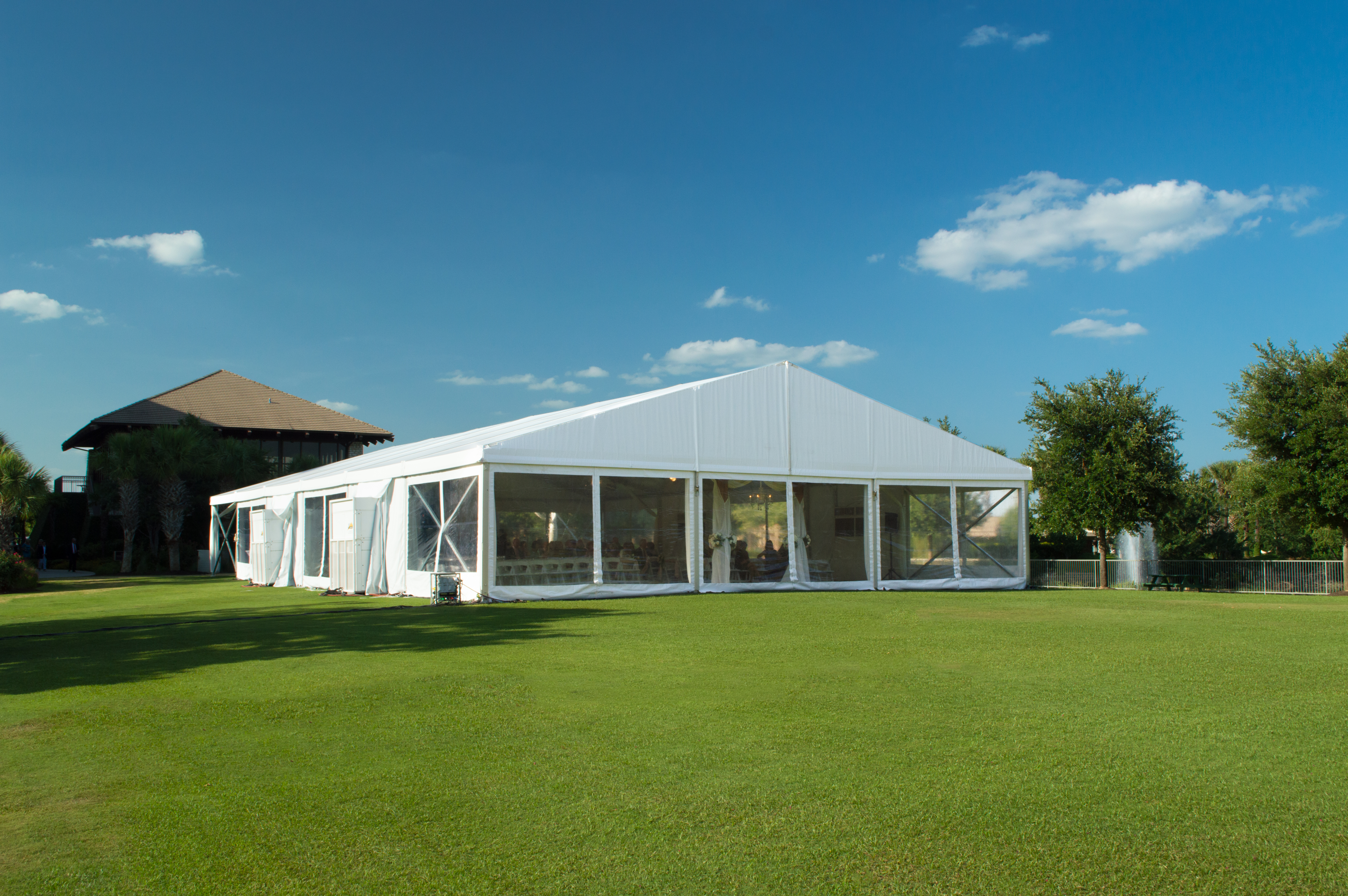 White Structure Tent Rental