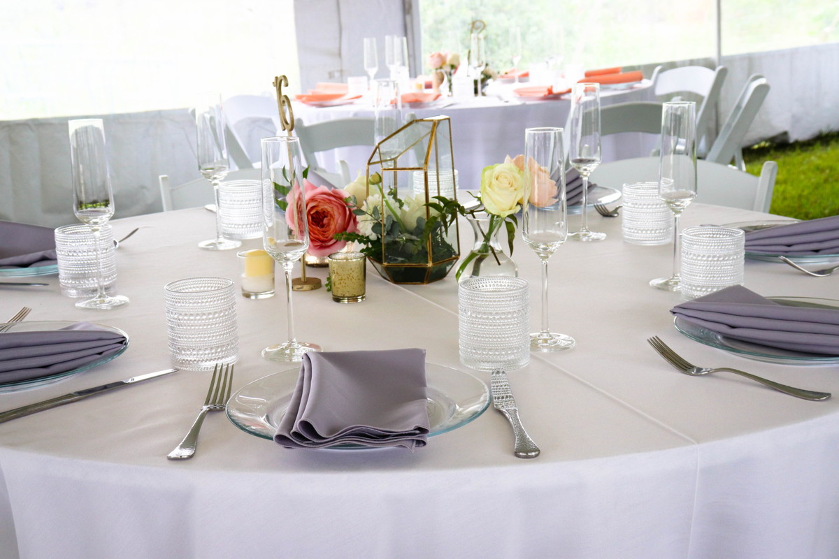 Table Top with Floral Centerpiece