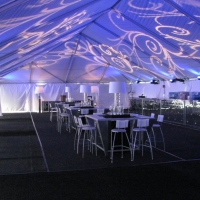 Beautiful Lighting Under Frame Tent Rental