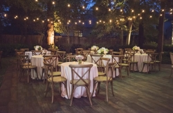 Bistro Light and Table Chair Rental