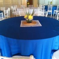 Blue Rental Linen