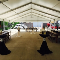 Clean Structure Tent Tablescape