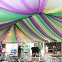 Colorful Decor Under Frame Tent Rental
