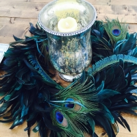 Creative Peacock Feather Centerpiece