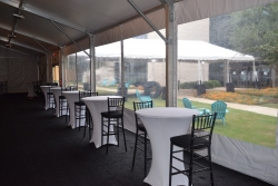 Tall Tables and Tall Black Chiavari Chairs