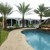 Poolside White Frame Tent Rental