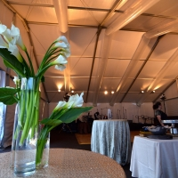 Inside White Frame Tent Rental