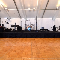 Staging and Dance Floor with Band Setup