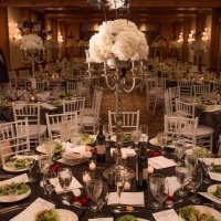 Elaborate Tablescape With Floral Centerpiece