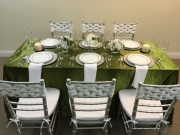 Green Crush Linen Rental