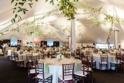 Inside Pole Tent Rental with Elegant Decor