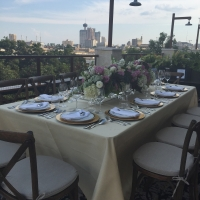Rental Tablescape Overlooking the City