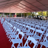 Port of Houston 100th Frame Tent Rental Seating Arrangement