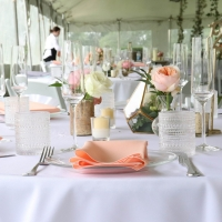 Tabletop Setting for a Wedding