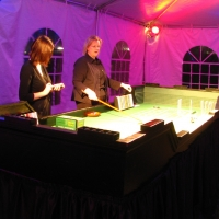 Casino night under a Frame Tent Rental