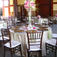 Chiavari Chairs Around Elegant Round Tables