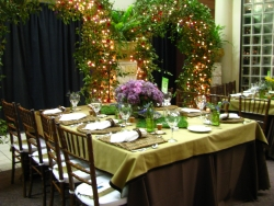 Table with Natural Looking Decor