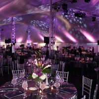 Lighting Inside White Pole Tent Rental