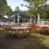 Rental Setup for Outdoor Reception