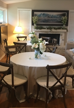 Chelsea Linen with Crossback Rental Chairs