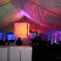 Colorful Lighting Under Frame Tent Rental