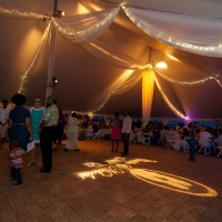 Elegant Setup Under White Pole Tent Rental