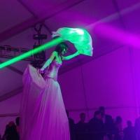 Overhead Lighting Inside Tent at Cirque Show