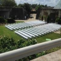 Overhead View of Wedding Seating Arrangement