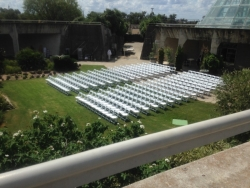 Overhead View of Wedding Seating Arrangement