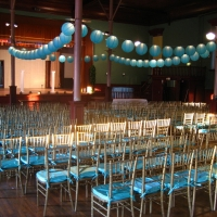Chiavari Chairs with Blue Cushions