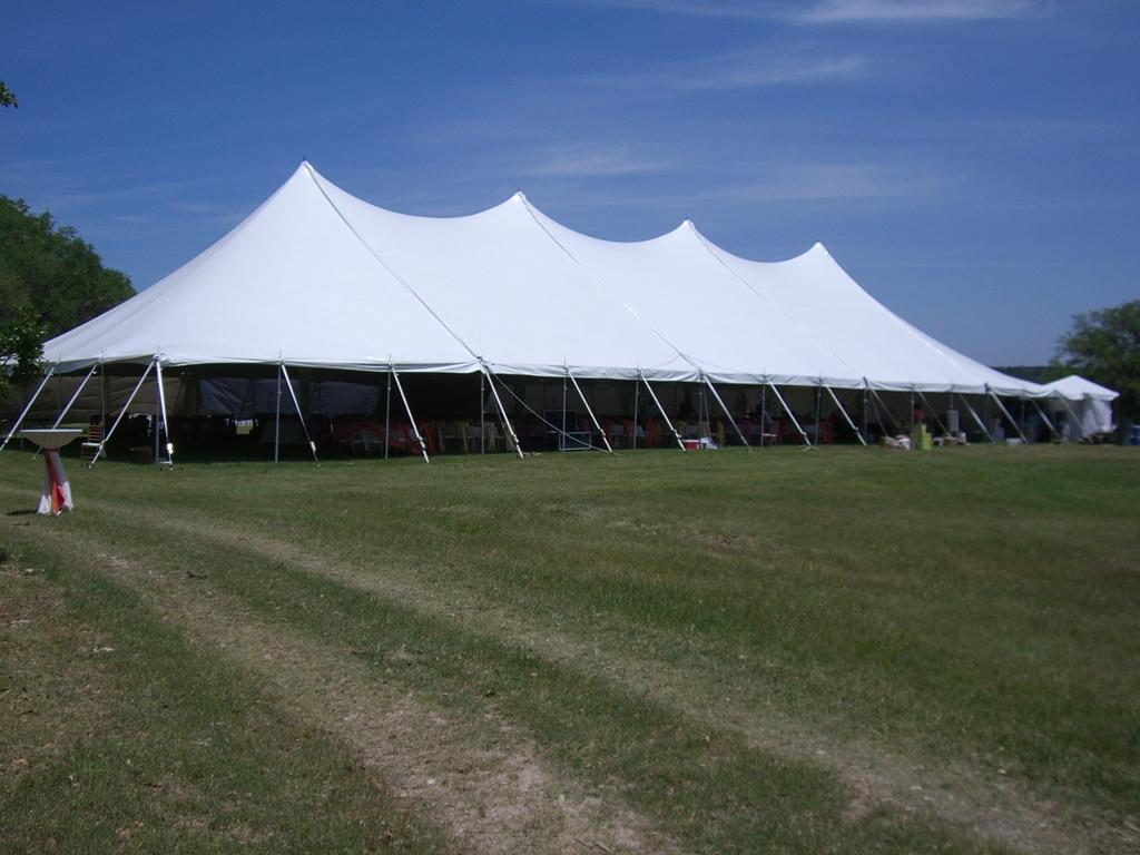 White Pole Tent Rental