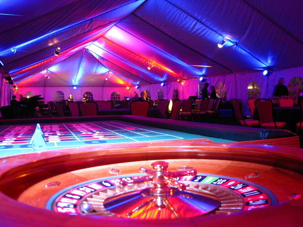 Casino Night Colored Lighting