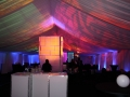 Colorful Lighting Under Frame Tent Rental