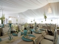 White Elegant Decor Under Frame Tent Rental