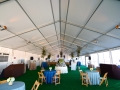 Inside White Structure Tent Rental