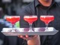 Drinks in Rental Glasses on a Beautiful Rental Platter