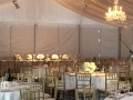 Tablescape Gold Chiavari Chairs and Elegant Decor and Lighting