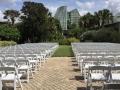 Outdoor Wedding Ceremony with Rental Garden Chairs