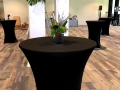 Elegant Black Event Tables by Peerless at Lexus Launch