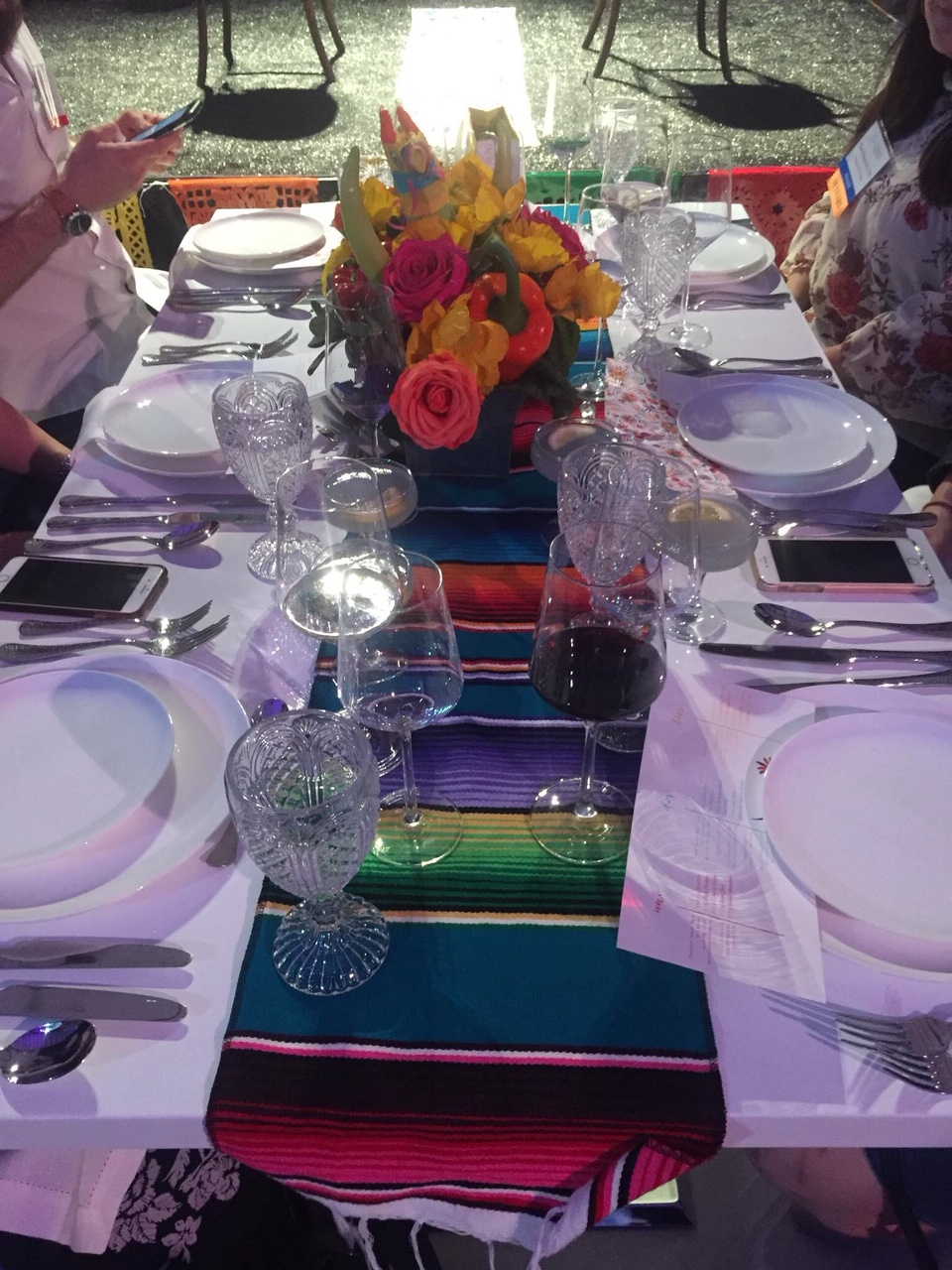 Cinco de Mayo Table Setting by Peerless a t NACE Cinco de Mayo Banquet 2018