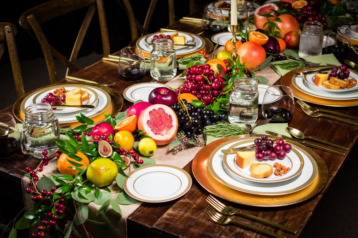Farm-Table-with-Gold-Flatware